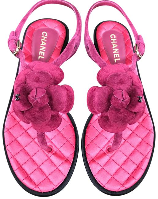 Item - Pink Dark Camelia Suede Sandals Thongs 40c Flats Size EU 40 (Approx. US 10) Wide (C, D)