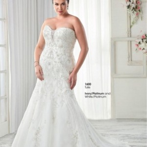 Ivory Silver Tulle and This Is A Bridal Store Sample Formal Wedding Dress Size 28 (Plus 3x)