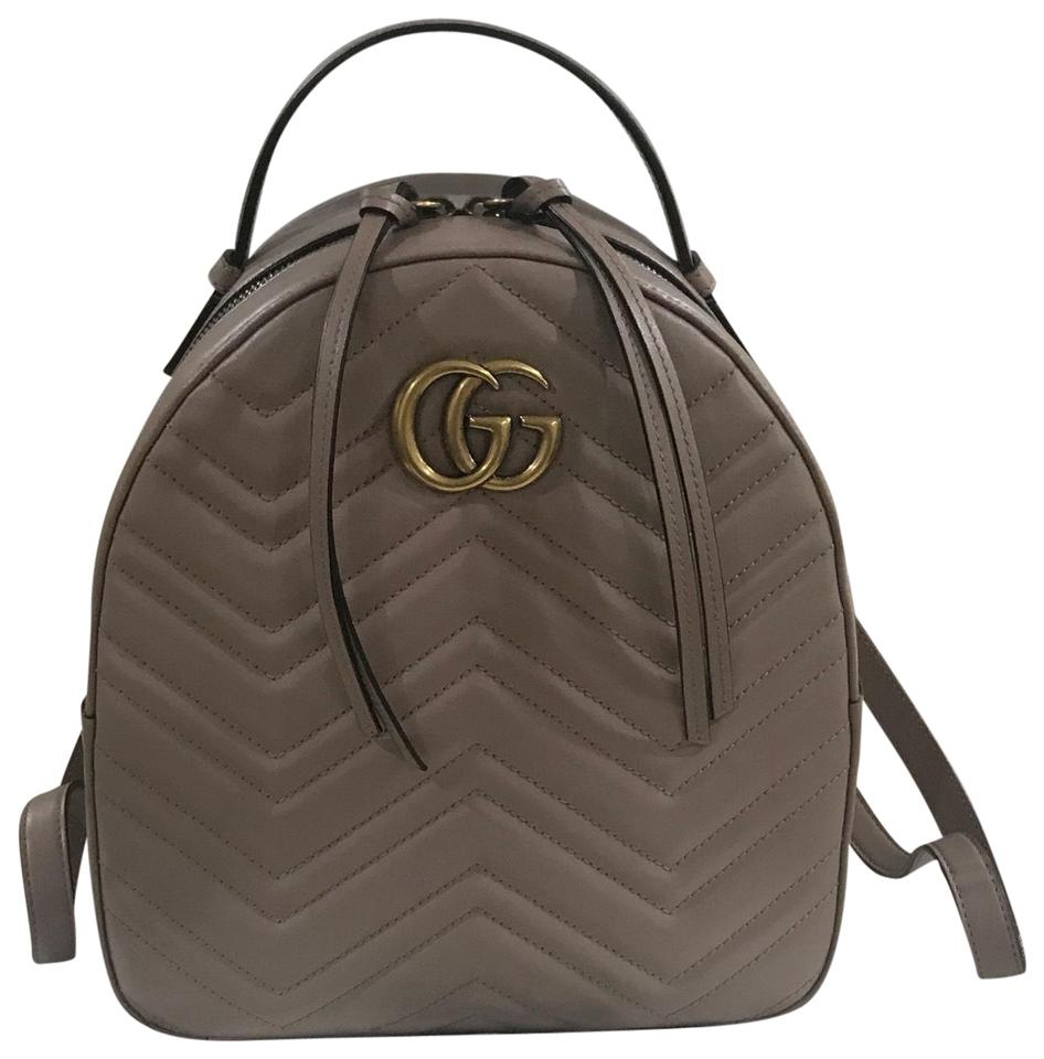 58dbb8c6f Gucci Marmont Gg Pink Leather Backpack - Tradesy
