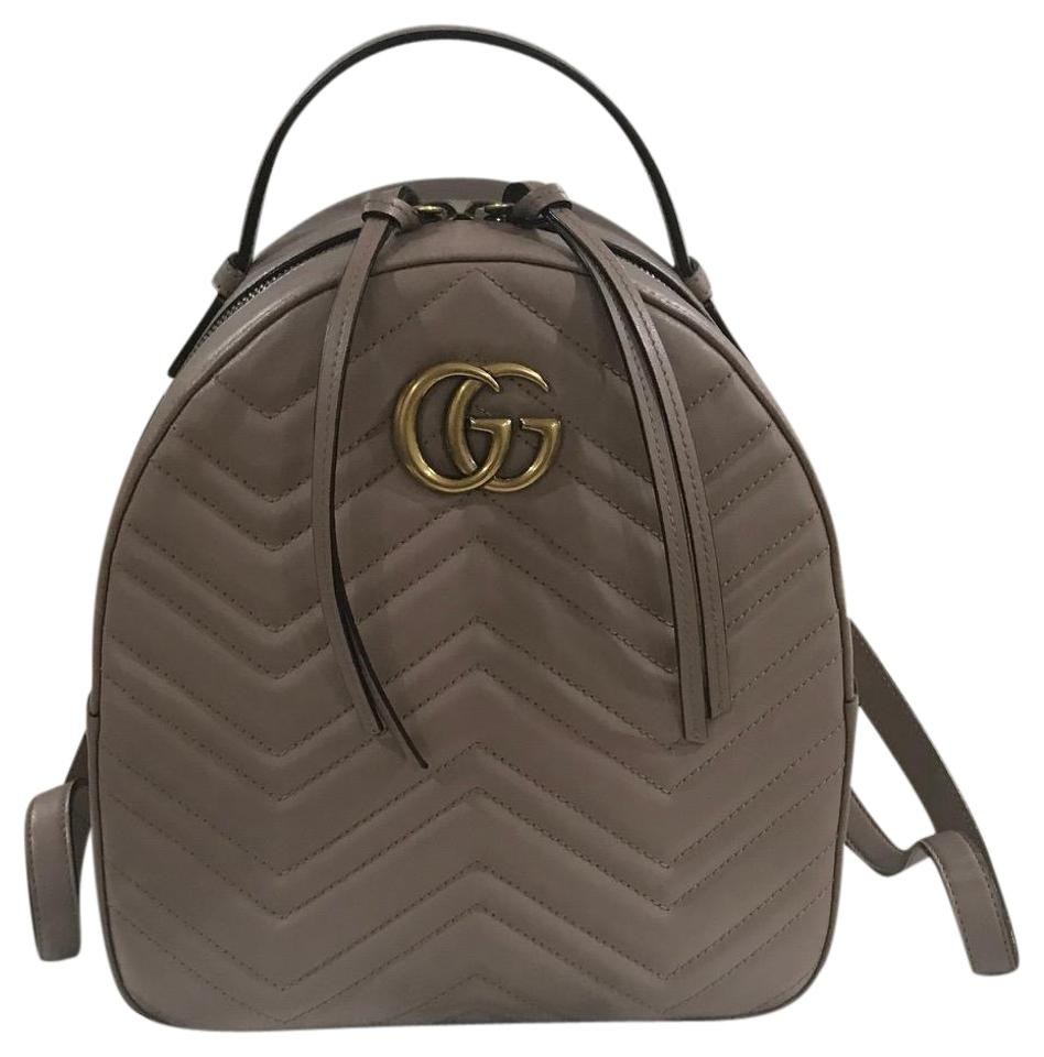 60da32e52b1e Gucci Marmont Gg Pink Leather Backpack - Tradesy