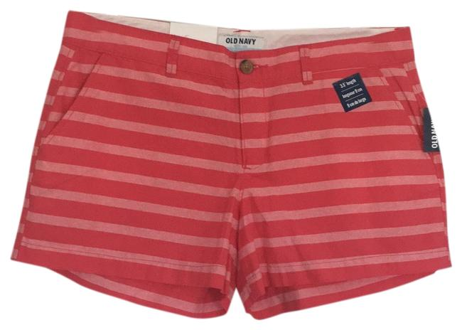 "Item - Pink Stripe 3.5"" Length Shorts Size 12 (L, 32, 33)"