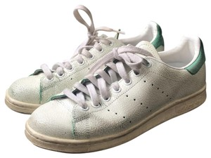adidas White with Green Crackle Athletic