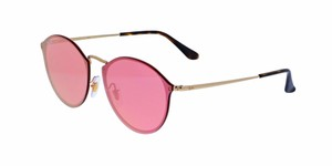 Ray-Ban NEW Ray Ban 3574N Blaze Round Pink Mirrored Sunglasses
