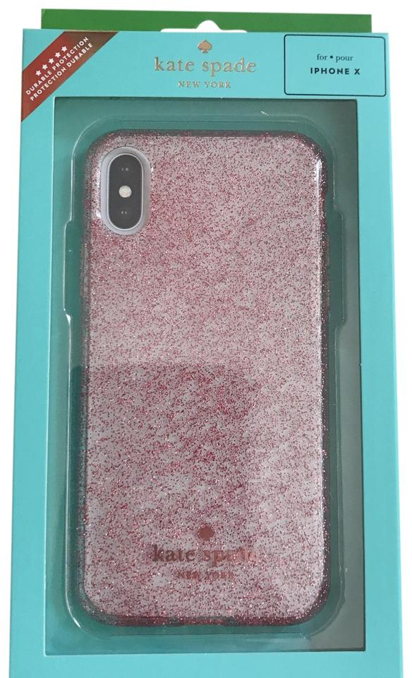 super popular 7791f 344ca Kate Spade Rose-gold Iphone X Giltter Comold Case Tech Accessory 18% off  retail