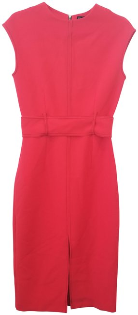 Item - Red Sheath Mid-length Work/Office Dress Size 6 (S)