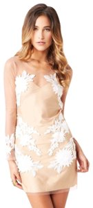 For Love & Lemons short dress nude and white lace on Tradesy