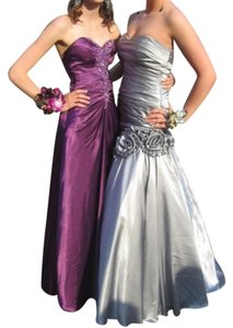 Night Moves Prom Collection Mermaid Lace Up Back Satin Dress