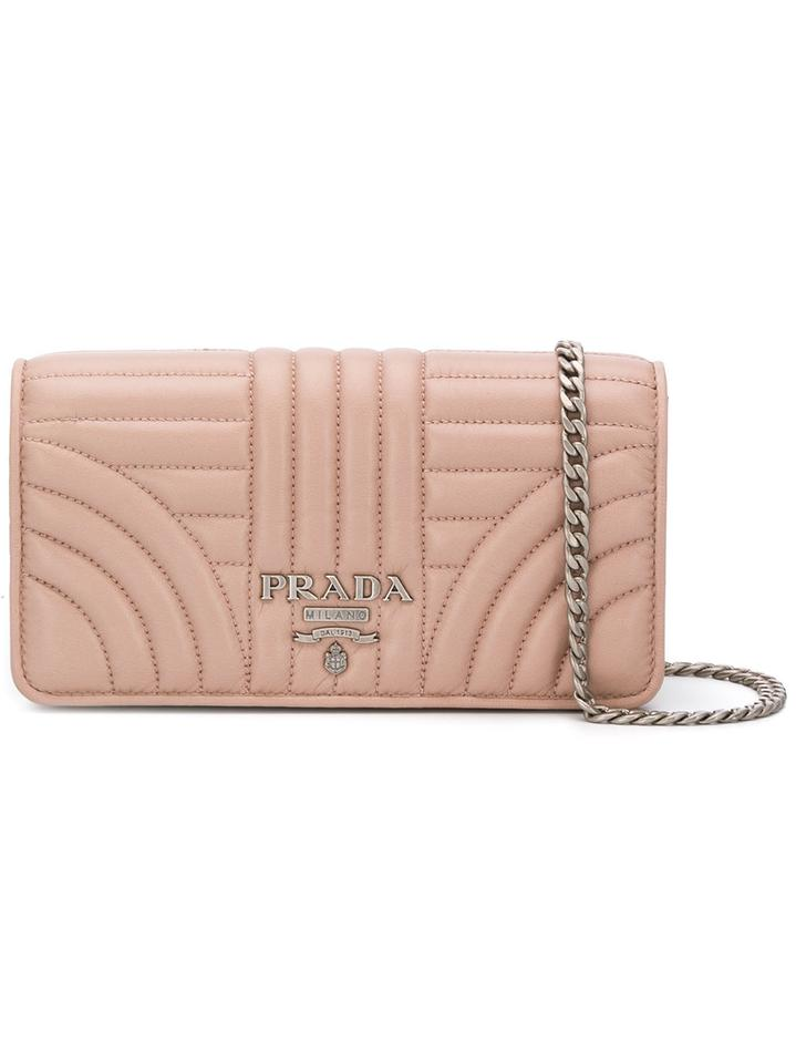 80ac0466f99a Prada Quilted Wallet-on-chain Beige Leather Cross Body Bag - Tradesy