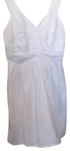 Pins and Needles short dress White with black exposed hooks in back. on Tradesy