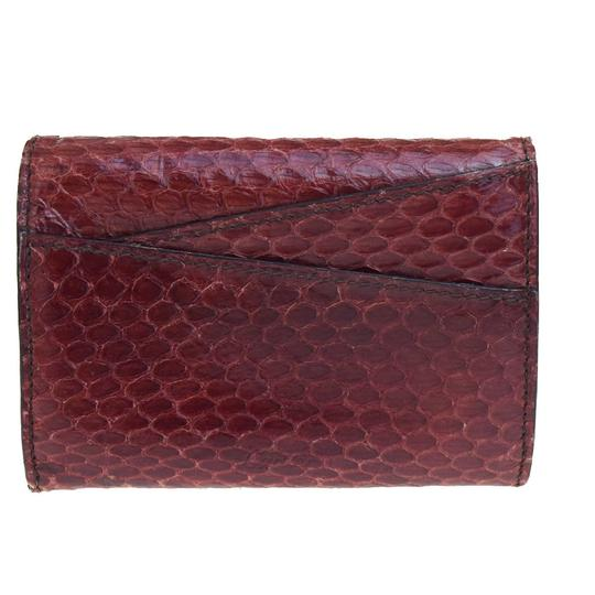 Cartier CARTIER Logos Bifold Pass Card Case Python Leather Bordeaux Image 1