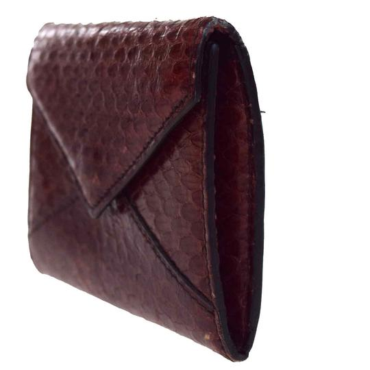 Cartier CARTIER Logos Bifold Pass Card Case Python Leather Bordeaux Image 2