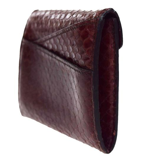 Cartier CARTIER Logos Bifold Pass Card Case Python Leather Bordeaux Image 3