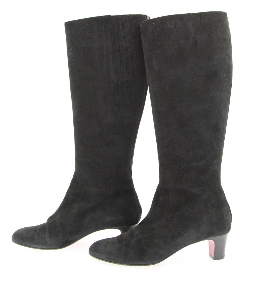 50 Christian Louboutin Black Bourge Boots Booties 77Oqfwxt