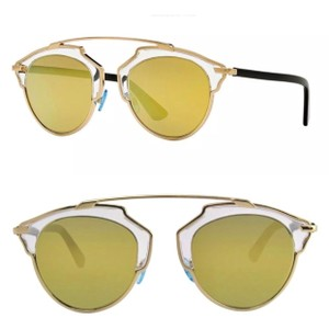 da8cc267fb Dior Gold Blackgold Black Brown So Real Sunglasses