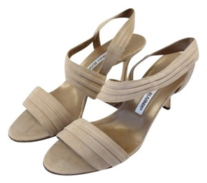 Manolo Blahnik Strappy Beige Sandals