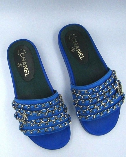 Chanel Blue Mules Image 1