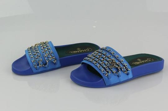 Chanel Blue Mules Image 3