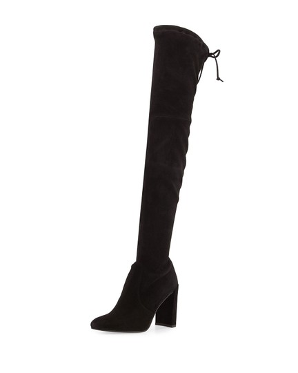 Stuart Weitzman Highchamp Suede Over-the-knee Over The Knee Black Boots Image 0