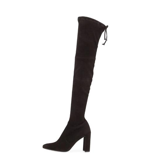 Stuart Weitzman Highchamp Suede Over-the-knee Over The Knee Black Boots Image 2