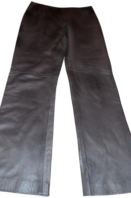 Item - Gray Metalic Milano Very Soft Genuine Leather Pants Size 8 (M, 29, 30)