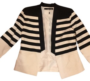 Amanda + Chelsea black and cream Blazer