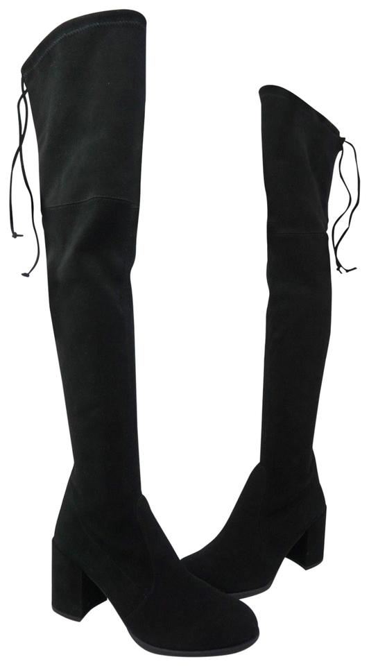 aabf2037f6e Stuart Weitzman Black Hinterland Over The Knee Boots Booties Size US ...
