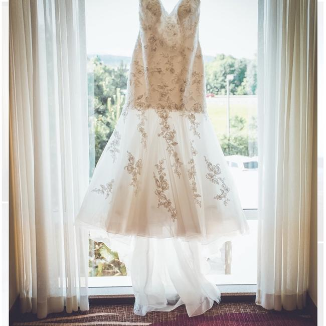 Item - Off-white Sottero-built-in Bustier Formal Wedding Dress Size 16 (XL, Plus 0x)