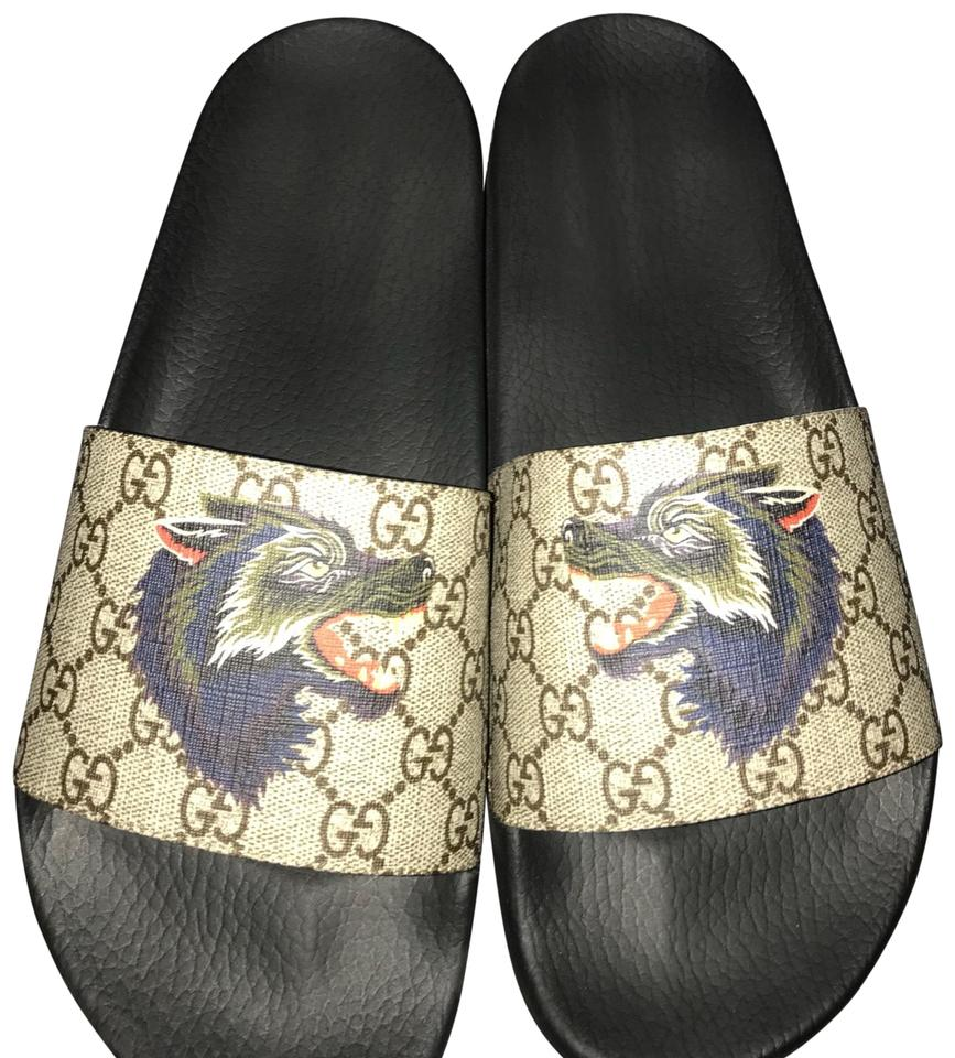 c7aac51d8a18 Gucci Gg Supreme Wolf Slides Sandals Size US 10 Regular (M
