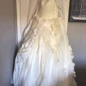 Maggie Sottero Ivory Opal Organza - Juliette Formal Wedding Dress Size 12 (L)