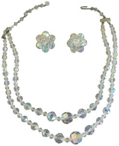 Sarah Coventry Sarah Coventry Crystal Aurora Borealis Necklace Earring Set Vintage
