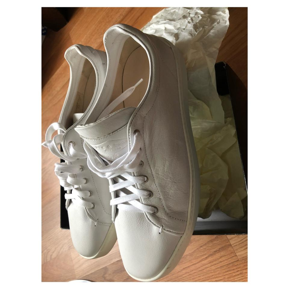 amp; Sneakers Leather Rag White Sneakers Bone 6c8TT1v