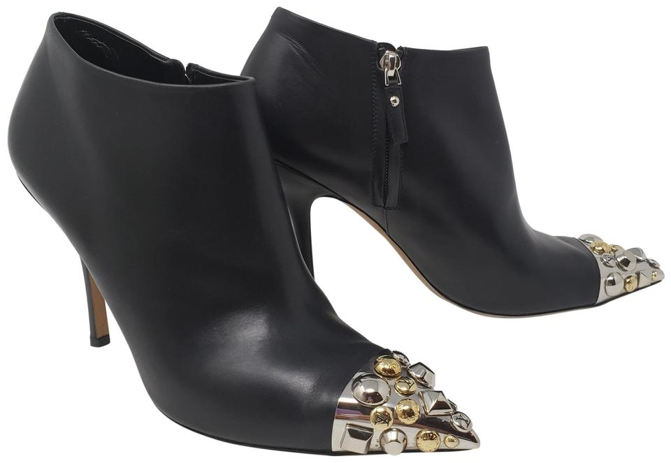 553512537dfd Louis Vuitton Black Leather Lv Charm Pointed-toe Ankle Boots Booties ...