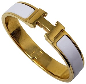 Hermès 18K yellow gold-plated brass Hermès Clic Clac H bracelet PM