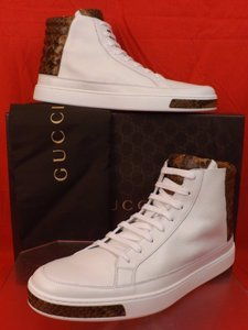 Gucci White Mens Leather Python Details Limited Hi Top Sneakers 9 Us 10 Shoes