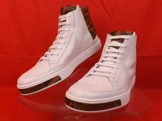 Gucci White Mens Leather Python Details Limited Hi Top Sneakers 9 Us 10 Shoes Image 7