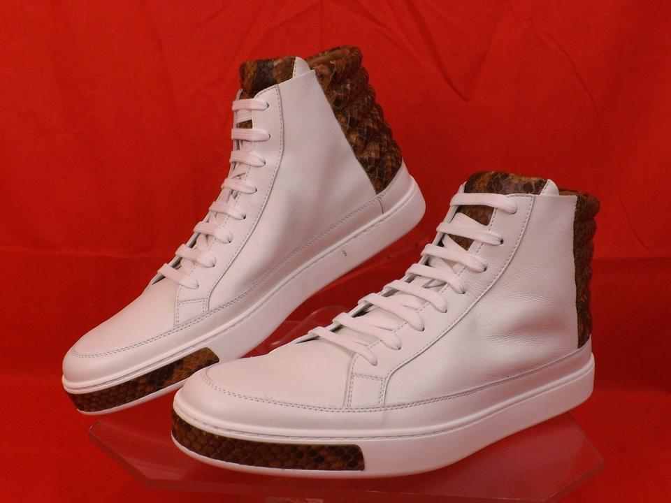 add64d086 Gucci White Mens Leather Python Details Limited Hi Top Sneakers 9 Us 10  Shoes Image 10. 1234567891011