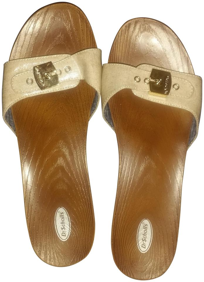 42205ce80a1d Dr. Scholl s Tan Neutral Slide On Vintage Design Sandals Size US 10 ...