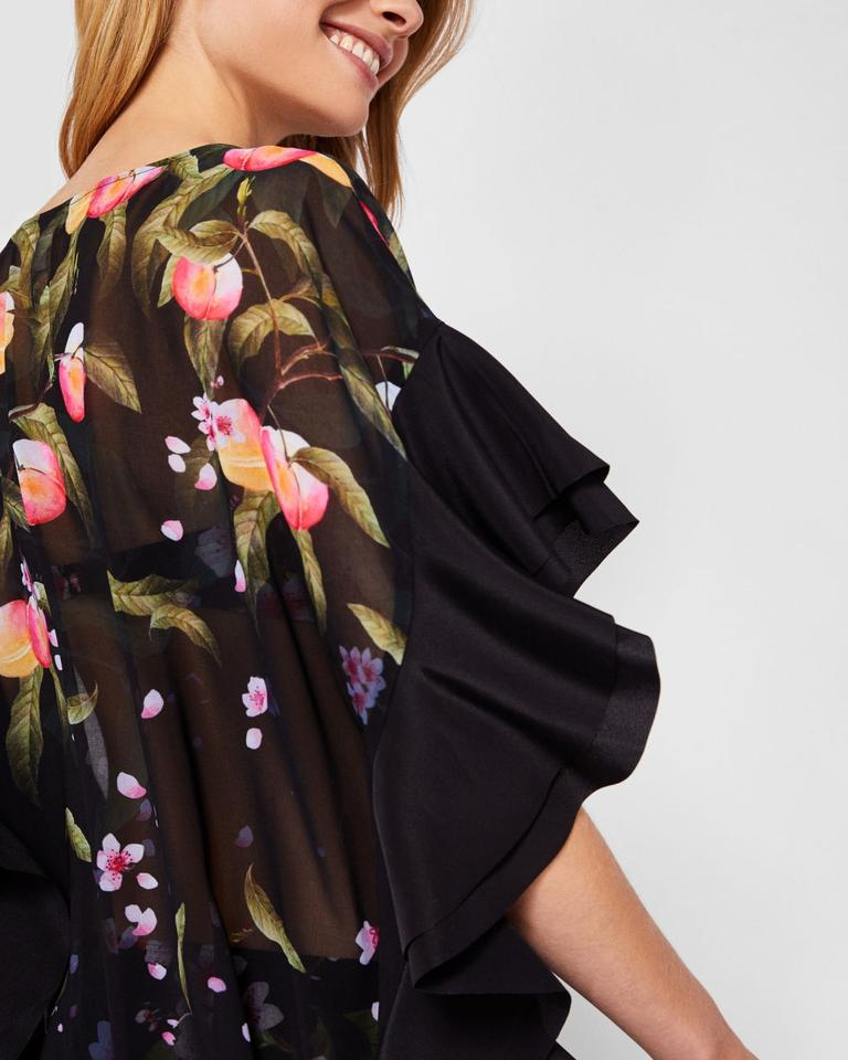 dda3cf0df Ted Baker Ted Baker Wisela Peach Blossom Square Beach Cover Up Image 4.  12345