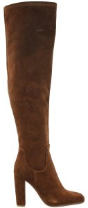 Tony Bianco Over The Knee Suede Leather Brown Boots