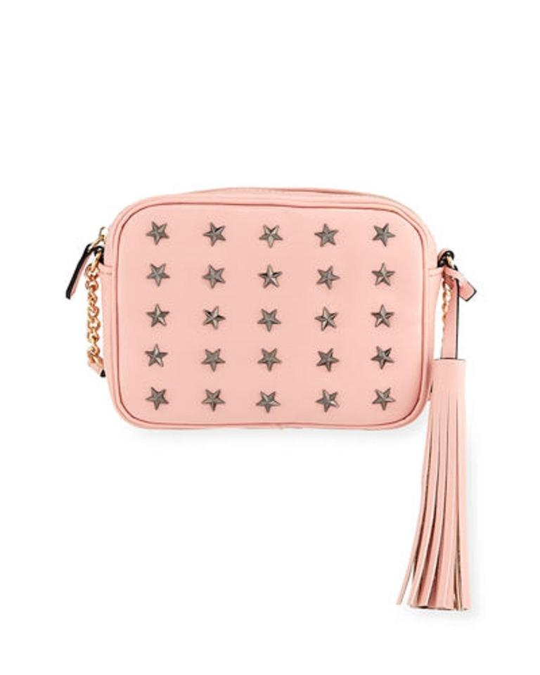 871605900675cf Neiman Marcus Purses/Designer Purses Pink Faux Leather with Tassel and Star  Design Cross Body Bag