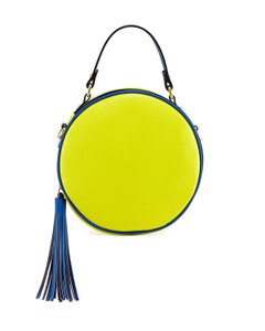 Neiman Marcus Made In Italy For Two Way Style Round Canteen Style W/ Cross Body Bag