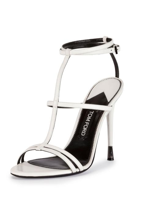 Item - White Chalk Leather T-strap Cage Sandals Size EU 41 (Approx. US 11) Regular (M, B)