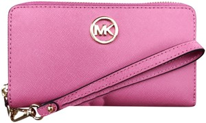 Michael Kors Phone Wallet Wristlet in Tulip Pink