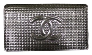 Chanel Chanel Metallic Wallet Ice Cube Quilted Clear Silver