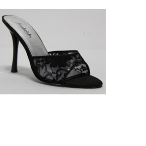 Frederick's of Hollywood Lace Black Sandals