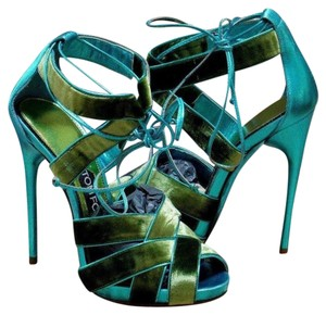 Tom Ford Very Sexy Great Value Unique Green / Turquoise Sandals