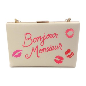 Kate Spade Ivory/Hot pink Clutch