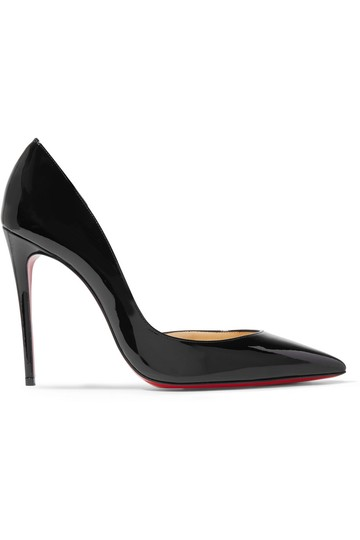 Christian Louboutin Iriza Half-d'orsay 100 Red Sole Patent Black Pumps Image 4