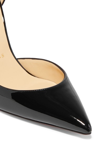 Christian Louboutin Iriza Half-d'orsay 100 Red Sole Patent Black Pumps Image 6
