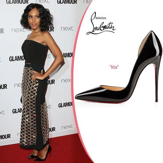Christian Louboutin Iriza Half-d'orsay 100 Red Sole Patent Black Pumps Image 8